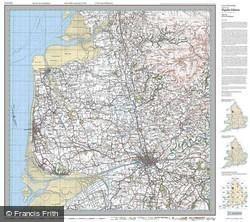 Preston & Blackpool (1924) Popular Edition Folded Sheet Map