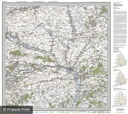 Salisbury & The Plain (1919) Popular Edition Folded Sheet Map