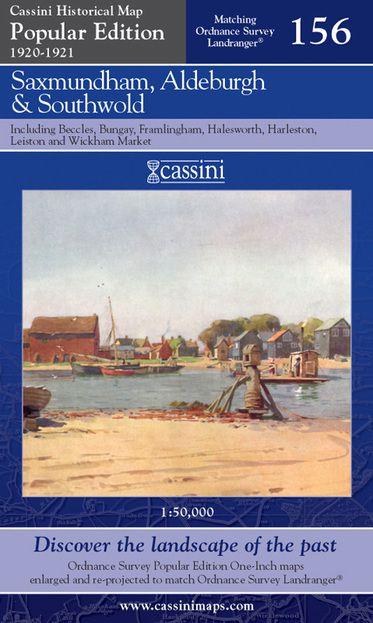 Saxmundham, Aldeburgh & Southwold (1920) Popular Edition Folded Sheet Map