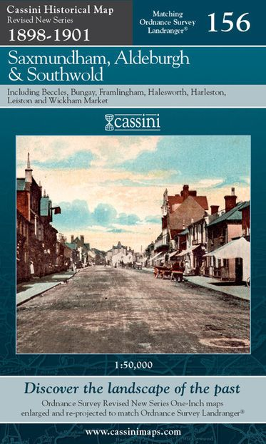 Saxmundham, Aldeburgh & Southwold (1898) Revised New Series Map