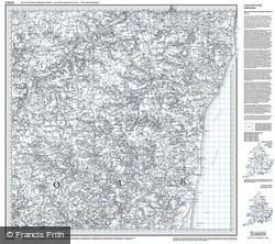 Saxmundham, Aldeburgh & Southwold (1837) Old Edition Folded Sheet Map