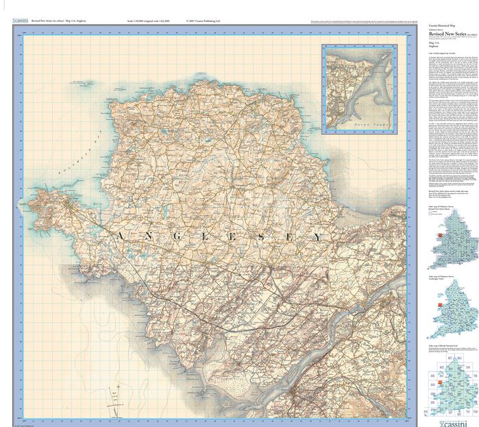 Anglesey (1903) Revised New Colour Edition Folded Sheet Map