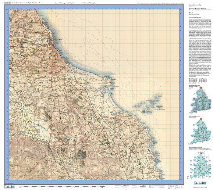 Berwick-upon-Tweed (1901) Revised New Colour Edition Folded Sheet Map
