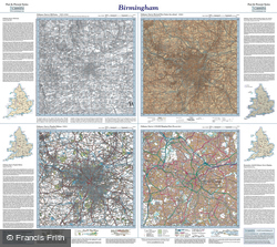 Birmingham (1831) Past & Present Folded Sheet Map