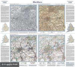 Blackburn (1844) Past & Present Folded Sheet Map