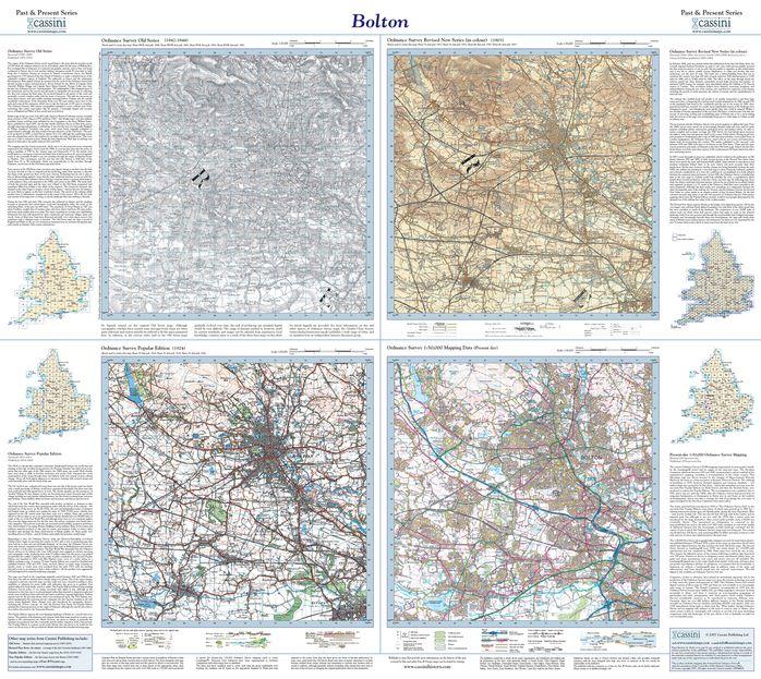 Bolton (1842) Past & Present Folded Sheet Map