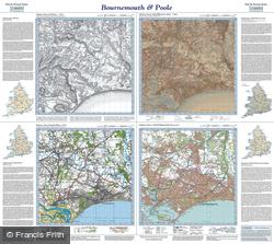 Bournemouth & Poole (1811) Past & Present Folded Sheet Map