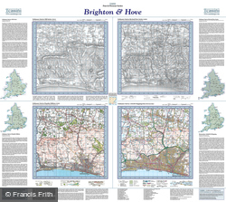 Brighton & Hove (1813) Past & Present Folded Sheet Map