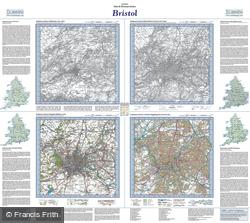 Bristol (1817) Past & Present Folded Sheet Map