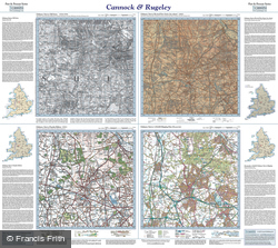 Cannock & Rugeley (1843) Past & Present Folded Sheet Map