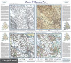 Chester & Ellesmere Port (1840) Past & Present Folded Sheet Map