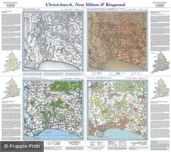 Christchurch, New Milton & Ringwood (1811) Past & Present Folded Sheet Map