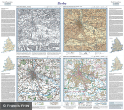 Derby (1836) Past & Present Folded Sheet Map