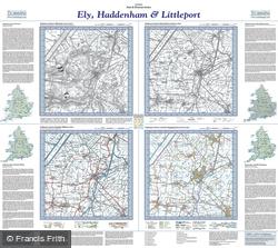 Ely, Haddenham & Littleport (1824) Past & Present Folded Sheet Map