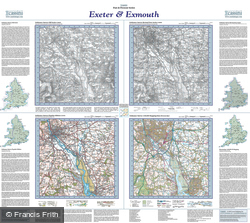 Exeter & Exmouth (1809) Past & Present Folded Sheet Map
