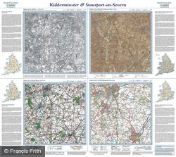 Kidderminster & Stourport-on-Severn (1831) Past & Present Folded Sheet Map