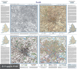 Leeds (1841) Past & Present Folded Sheet Map