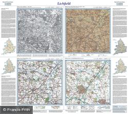 Lichfield (1834) Past & Present Folded Sheet Map