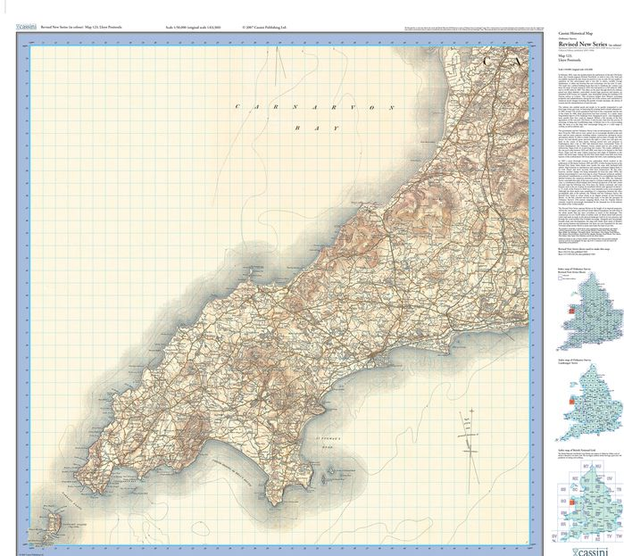 Lleyn Peninsula (1903) Revised New Colour Edition Folded Sheet Map