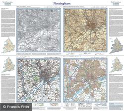 Nottingham (1836) Past & Present Folded Sheet Map