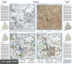 Oxford (1830) Past & Present Folded Sheet Map