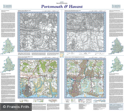 Portsmouth & Havant (1810) Past & Present Folded Sheet Map