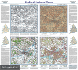 Reading & Henley-on-Thames (1817) Past & Present Folded Sheet Map