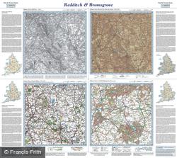 Redditch & Bromsgrove (1831) Past & Present Folded Sheet Map