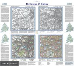 Richmond & Ealing (1816) Past & Present Folded Sheet Map