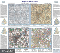Sheffield & Rotherham (1840) Past & Present Folded Sheet Map