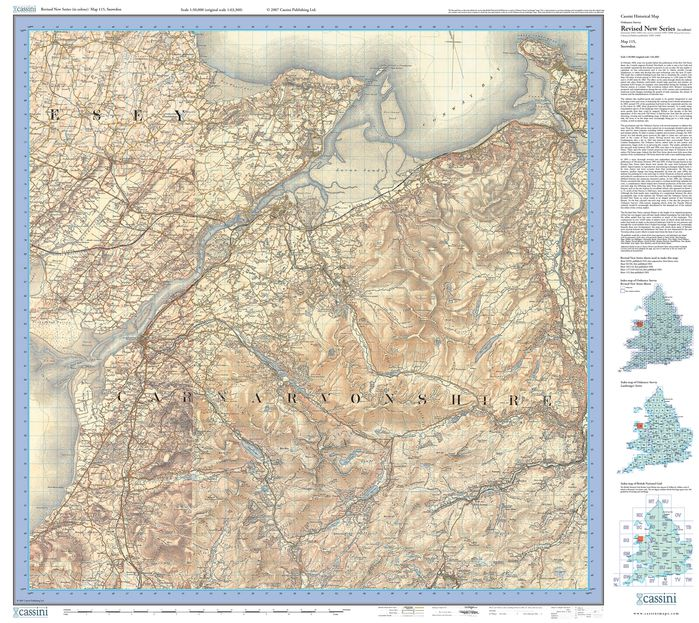Snowdon (1903) Revised New Colour Edition Folded Sheet Map