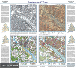 Southampton & Totton (1810) Past & Present Folded Sheet Map