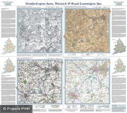 Stratford-upon-Avon & Warwick (1831) Past & Present Folded Sheet Map
