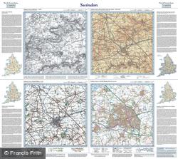 Swindon (1829) Past & Present Folded Sheet Map