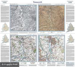 Tamworth (1834) Past & Present Folded Sheet Map