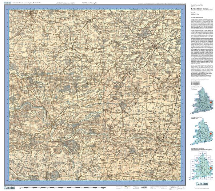 Thetford & Diss (1901) Revised New Colour Edition Folded Sheet Map