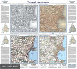 Torbay & Newton Abbot (1809) Past & Present Folded Sheet Map
