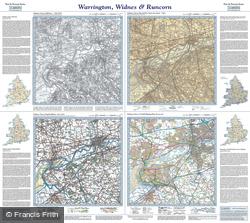 Warrington, Widnes & Runcorn (1842) Past & Present Folded Sheet Map