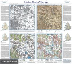 Windsor, Slough & Uxbridge (1816) Past & Present Folded Sheet Map