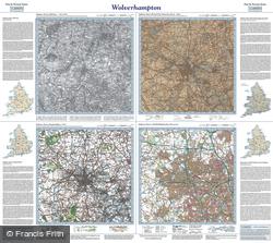 Wolverhampton (1833) Past & Present Folded Sheet Map
