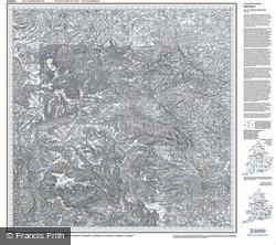 Sheffield & Huddersfield (1840) Old Edition Folded Sheet Map