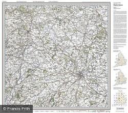 Shrewsbury & Oswestry (1921) Popular Edition Folded Sheet Map