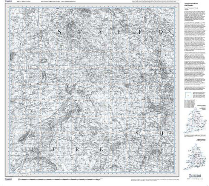 Stafford & Telford (1833) Old Edition Folded Sheet Map