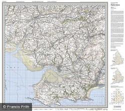 Swansea & Gower (1923) Popular Edition Folded Sheet Map