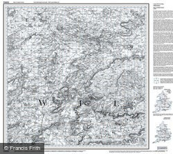 Swindon & Devizes (1817) Old Edition Folded Sheet Map