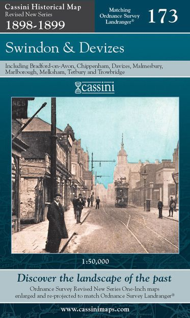 Swindon & Devizes (1898) Revised New Colour Edition Folded Sheet Map