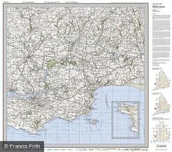 Tenby & Pembroke (1922) Popular Edition Folded Sheet Map