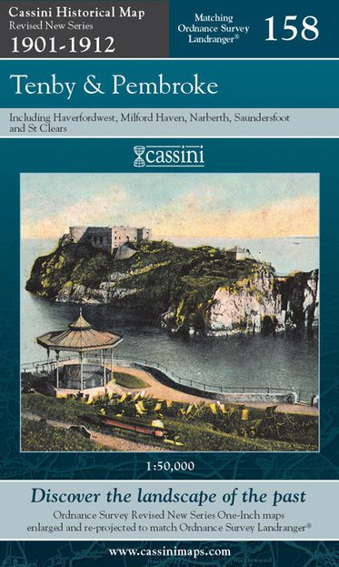 Tenby & Pembroke (1901) Revised New Colour Edition Folded Sheet Map