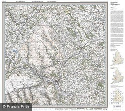 The Black Mountains (1919) Popular Edition Folded Sheet Map