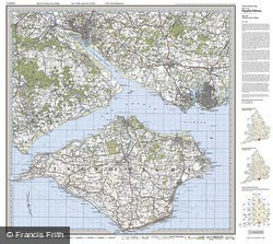 The Solent & Isle of Wight (1919) Popular Edition Folded Sheet Map